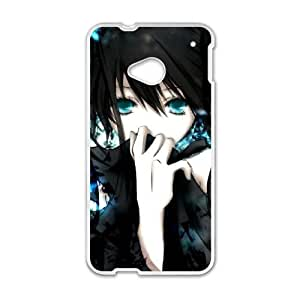 Black Rock Shooter HTC One M7 Cell Phone Case White knik