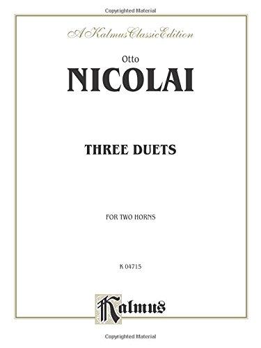 Three Duets (Kalmus Edition)
