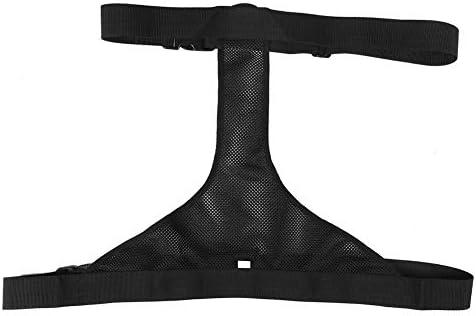 Wheelchair Safety Strap,Breathable Adjustable Wheelchair Seat Waist Belt,Wheelchair Restraints Straps,Wheelchair Seat Anti-Slip Waist Belt,Fixed Elderly Belt,Safety Harness Straps (Black)