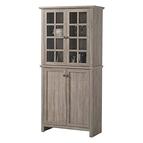 Homestar Glass Cabinet in Reclaimed Wood Finish