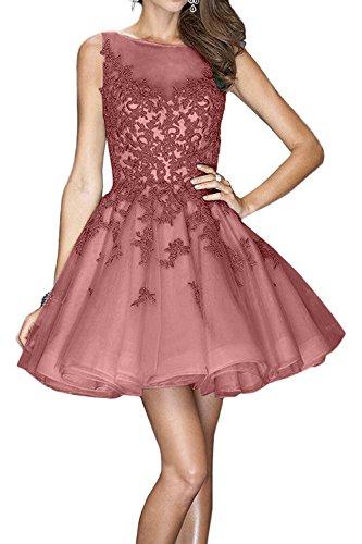 Kurzes Brau La Tanzenkleider Rosa Promkleider Abendkleider Kleider Jugendweihe Mini Spitze mia Cocktailkleider Alt Glamour nXFTF5Uq