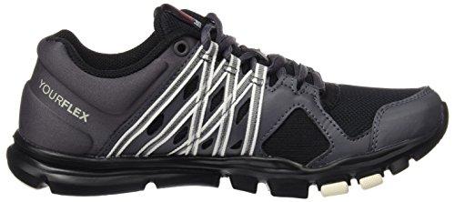 Yourflex De Gymnastique black Stealth Adulte Trainette chalk Reebok ash 0 Chaussures Grey 8 Mixte qX4d4Yfw