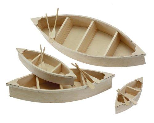 Darice 9610-17 Wood Canoe Cutout, 9-Inch