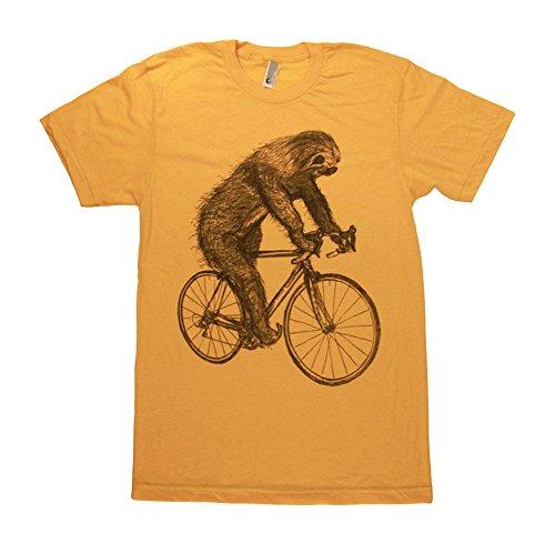 Scoutmob Men'S Sloth On A Bike T-Shirt Unisex Xl -