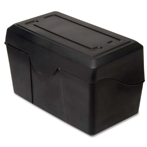 ADVANTUS 4 x 6 Index Card Holder, 300 Card Capacity, Black (45002)