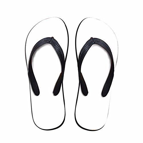 Flip Women Oil for Flops Men Painting PTJHKET Flowers Slippers Kids Black RxHwdqyA6
