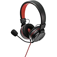 Snakebyte Head Set S - On Ear Stereo Headset for Gaming Consoles with Detachable Mic, Inline Control, Wired 3.5mm Headphone for Use with PC, Laptop, Xbox One, Switch, PS4