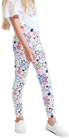 Confezione da 4 leggings elasticizzati con motivo floreale XM-Amigo 2-13 anni