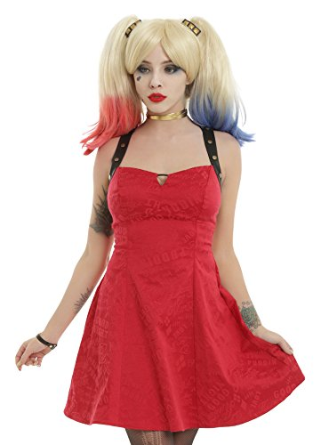DC Comics Suicide Squad Harley Quinn Red Dress Size: Medium