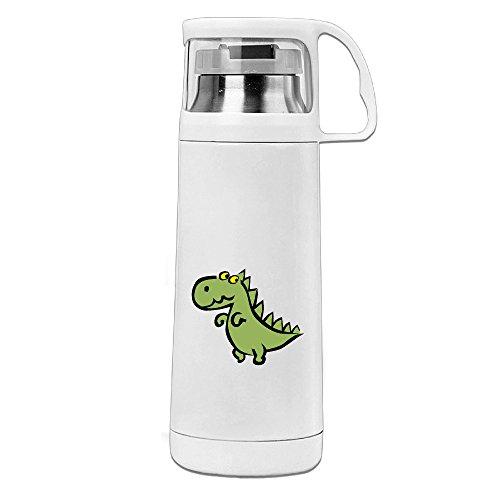 BakeOnion Green Dinosaur Vacuum Cup Travel Mug With Handle Cup Water Bottle For Travel Sport Gym School (Halloween Costumes Teenage Girls Tumblr)