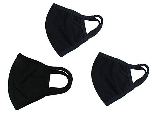 Free 3-Pack PM 2.5 Cotton Face Mouth Mask Muffle with Fliter Respirator Comfy Reuseable Dustproof Antibacterial Mouth Cover Warm Windproof Face Protective Guaze Mask