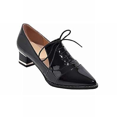 Amazon.com   Latasa Womenu0026#39;s Fashion Pointed-toe Mid Chunky ...