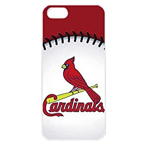 MLB Major League Baseball St. Louis Cardinals Logo Case For Iphone 4/4S Cover PC Soft (White)