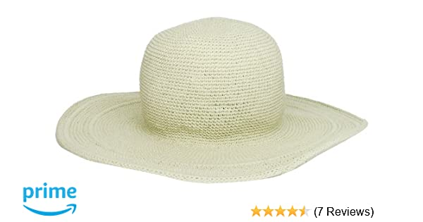 45aa9f88828903 San Diego Hat Company Women's Cotton Crochet 4 Inch Brim Floppy Hat, Stone,  One Size at Amazon Women's Clothing store: Sun Hats