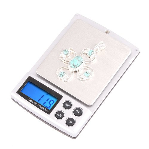 Digital Scales Weight Electronic Food Bathroom Kitchen Professional 2000g/0.1g Digital Scale Pocket Electronic Jewelry Diamonds Scale Mini Weighing Scales Weight Balance LCD Display By Gangnumsky