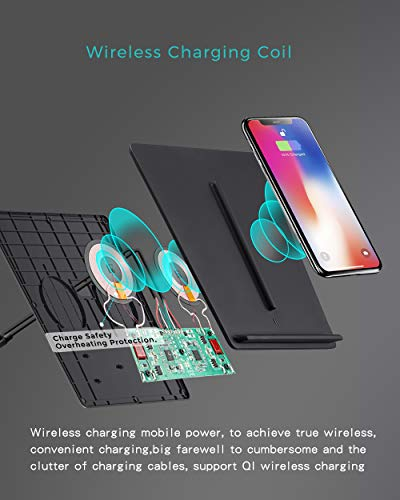 TapTes Model 3 Wireless Charger Dual Qi Wireless Smartphone Charging Pad M3 Car Interior Center Console Accessories for Any Qi Enable Phone, Compatible with Tesla Model 3 - No Software Issue Upgraded