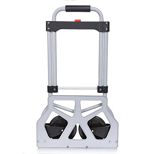 Folding Hand Truck/Assisted Hand Truck/Cart 220lbs Lightweight Portable Fold UpDolly Foldable Wheelsfor Luggage, Personal, Travel, Auto, Moving and Office Use by Elomes (Image #1)