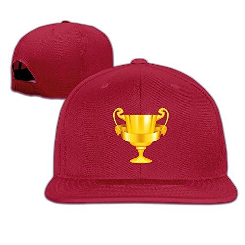 Jusxout Gold Trophy Snapback Unisex Adjustable Flat Bill Visor Dad (Trophy Rack Costume)