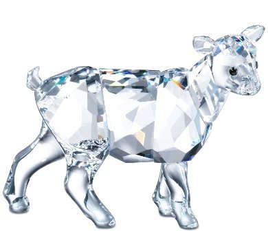 Swarovski Crystal Figurine #894593, Goat Kid, New 2007,