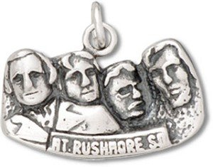 (Sterling Silver South Dakota State Mount Rushmore Charm)