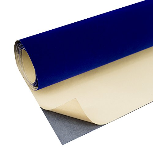 - Self Adhesive Velvet Flock Liner Jewelry Drawer Craft Fabric Upholstery Peel Sticker (Royal Blue)