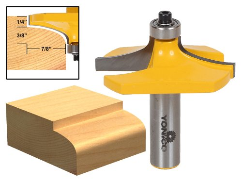 Yonico 13140 Thumbnail Table Edge Router Bit with Medium 1/2-Inch Shank