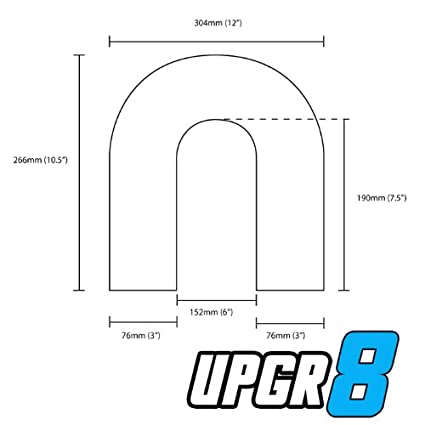 Upgr8 Universal Outside Diameter Polished Aluminum Pipe 2.0 51MM , 90 Degree