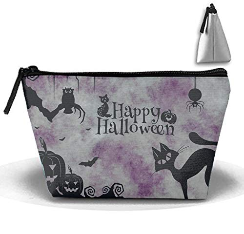 Multifunction Cosmetic Bag Happy Halloween Cat Pumkins Clipart