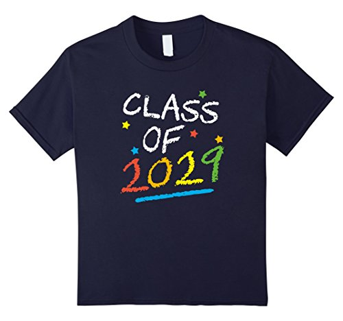 Kids Class of 2029 - Cute Chalkboard Graduation Pre-K T-shirt 12 (Pre K Graduation)