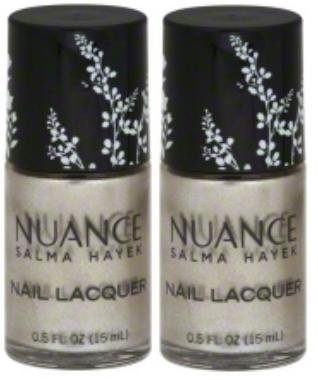 Nuance Salma Hayek Nail Lacquer MOONBEAM #525 (15 ML/0.5 FL. OZ.) EACH BOTTLE (PACK OF 2) PLUS A (Free Nail File From fetish for Natural Nails And Nail Tips) ()