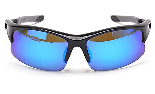 SDolphin Unisex Polarized Sports Sunglasses for Men Womens Cycling Running Driving Fishing Golf Baseball Glasses Blue