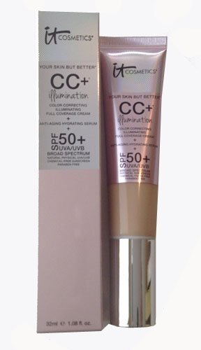 IT Cosmetics CC Illumination Cream with SPF 50+ (Light) 1.08 oz - Your Skin But Better (Best Drugstore Cc Cream For Dry Skin)