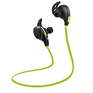 TaoTronics TT-BH06 G Bluetooth Wireless Earphones with Bluetooth 4.1, Balanced Audio, Build-in Mic, aptX, CVC 6.0 Noise-Cancelling - Green