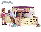 Glitter Girls by Battat - All Asparkle Acres Riding Stable Set - Accessory set for 14-inch horses - 14 inch Doll Accessories and Clothes for Girls Age 3 and Up - Children's Toys