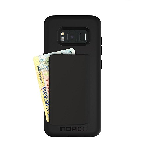 Incipio Technologies Samsung Galaxy S8 Stowaway Credit Card Hard Shell Case with Silicone Core - Black from Incipio