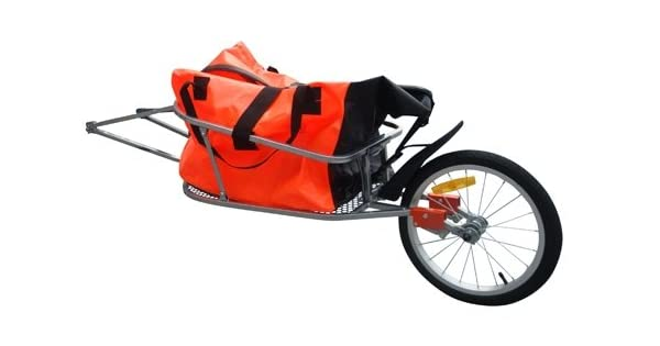Amazon.com: vidaXL – Remolque para bicicleta one-wheel con ...