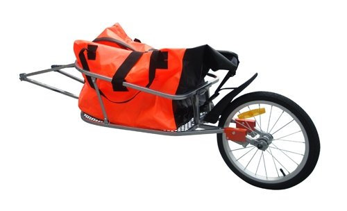 vidaXL Remorque de vélo mono roué pliante avec sac