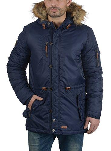Manteau Pour Longue Parka Navy Fur Faux Eugen Homme À Capuche D'hiver Blend 70230 Avec Veste pPxHwnCq5