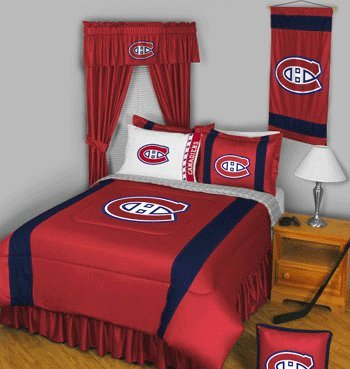 Montreal Canadians Hockey - Sports Coverage NHL Montreal Canadiens Sideline Comforter Queen