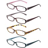 Reading Glasses Comb Pack of Multiple Fashion Men and Women Spring Hinge Readers (5 Pack Mix Color, 1.75)