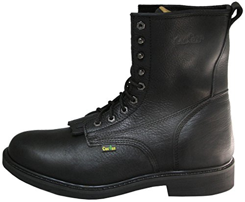 Cactus Mens 8 Leather Kiltie Lacer Boot Black t1z44MUS