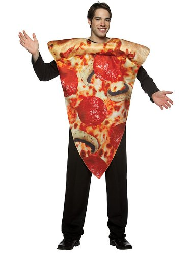 Men's Pizza Costume (Rasta Imposta Pizza Slice Costume, Multi-Colored, One Size)