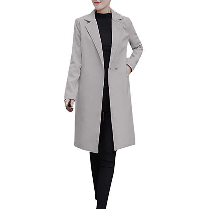 e26c2423 Chaqueta de Lana sintética Largas para Mujer Invierno, PAOLIAN Ropa ...