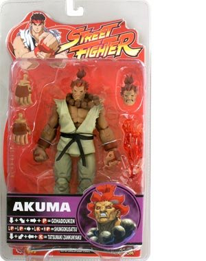 Street Fighter Round 4 Alpha Style Akuma Action Figure - Street Fighter M Bison Costume