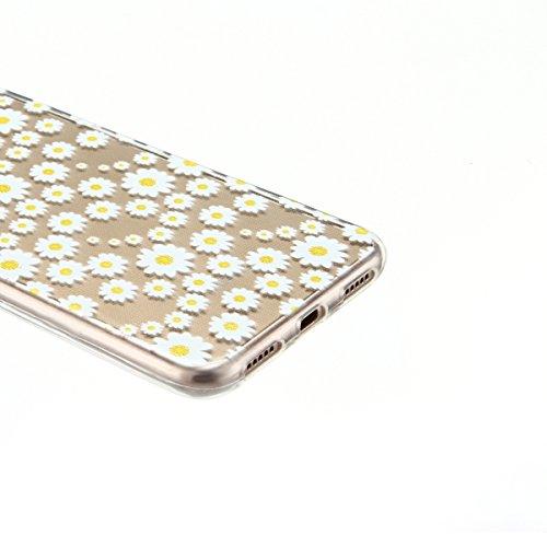 Funda Huawei P8 Lite 2017, CaseLover Carcasa Transparente Suave Silicona TPU para Huawei P8 Lite 2017 (5.2 Pulgadas) Ultra Delgado Flexible Gel Protectora Cubierta Resistente a los Arañazos Tapa Liger Crisantemo
