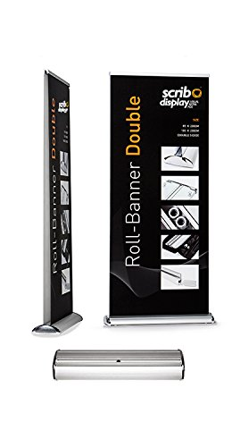 85 cm de ancho doble cara Roller Banner (Pack de 3) - En costosa, portátil y resistente ...
