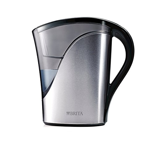 Brita Medium 8 Cup Stainless Steel Water Pitcher with Filter - BPA Free -