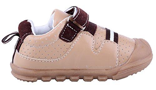 LONSOEN Baby Boys and Girls Anti-Slip Walking Shoes Toddler Athletic Sneaker BAY001 Brown CN19 by LONSOEN (Image #3)