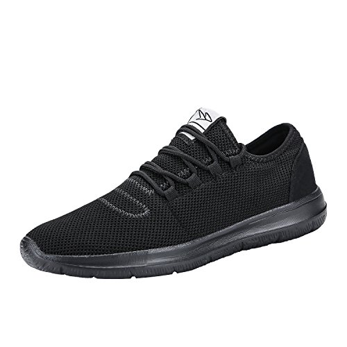 keezmz Men's Running Shoes Fashion Breathable Sneakers Mesh Soft Sole Casual Athletic Lightweight Full Black-45