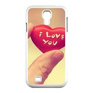 Okaycosama Funny Samsung Galaxy S4 Cases Heart in Hand Unique for Guys, Samsung Galaxy S4 Case for Girls, [White]